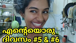 1 week of Daily vlogs #5 & #6|Day in my life|Easy sambar in cooker|Pork curry|Haircare|AsviMalayalam