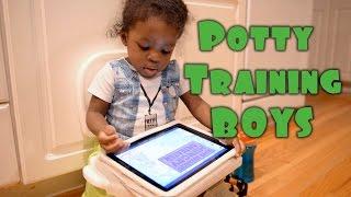Potty Training a BOY  | Re_nee1 Vlogs