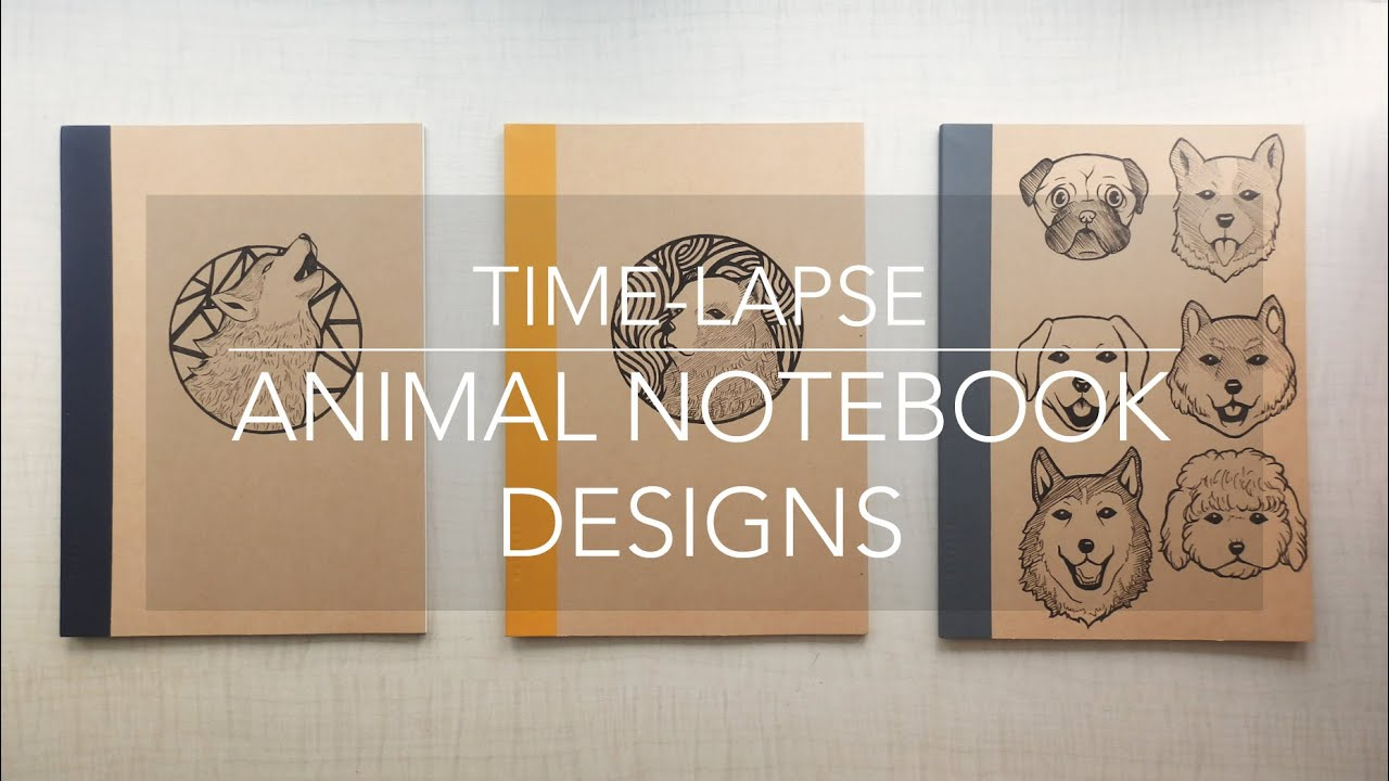 Time Lapse Animal Notebook Designs Pen Drawing Youtube