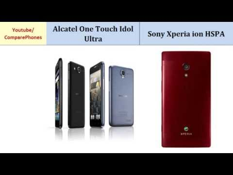 Alcatel One Touch Idol Ultra Versus Sony Xperia ion HSPA, all specs