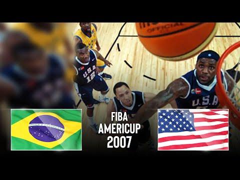 Brazil 🇧🇷 V USA 🇺🇸 | Classic Full Games - FIBA AmeriCup 2007