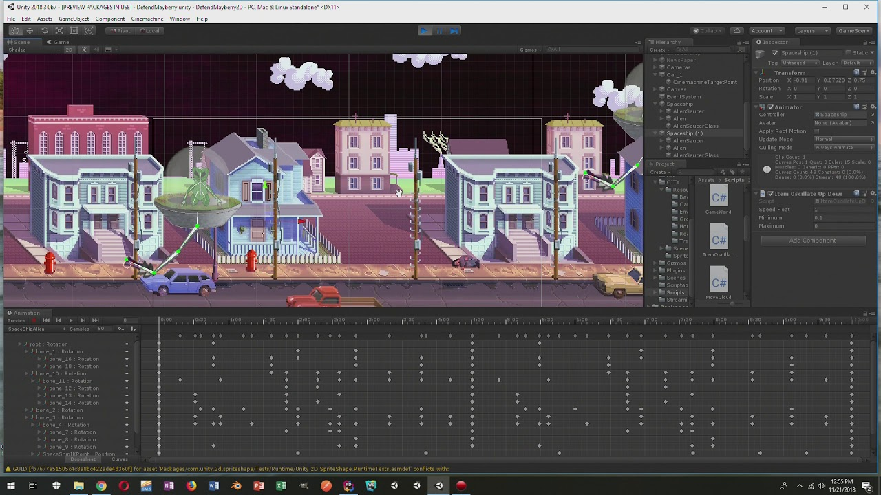 Unity 2D IK and Animation