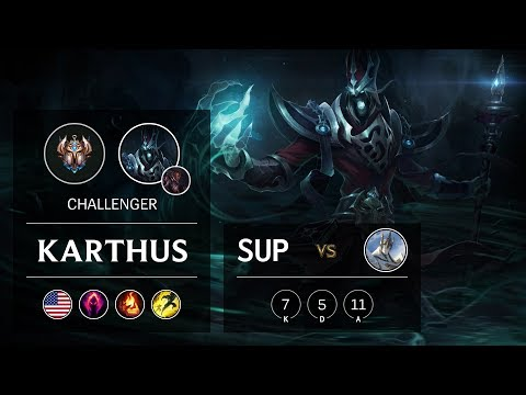 Karthus Support Vs Galio - NA Challenger Patch 9.7