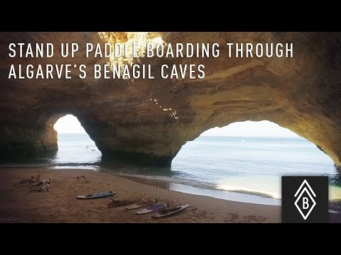 Stand Up Paddle Boarding Through Algarve's Legendary Benagil Caves in Southern Portugal - Video 1/4