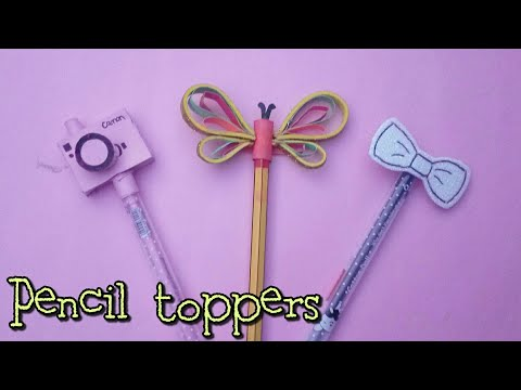 DIY Pencil toppers with paper|Prachi art and craft