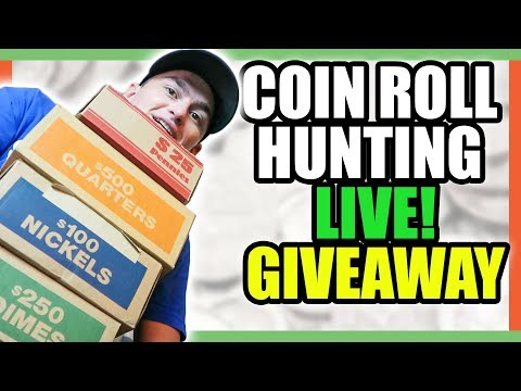 COIN ROLL HUNTING NICKELS - SILVER COINS AND FREE GIVEAWAYS!!