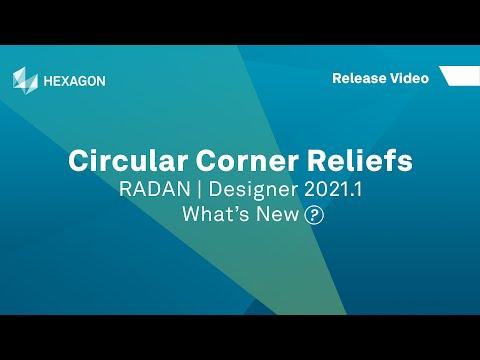 Circular Corner Reliefs   RADAN Designer 2021.1