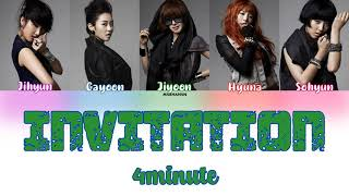 4Minute (포미닛) – Invitation feat. Yong Junhyung of BEAST [Han…