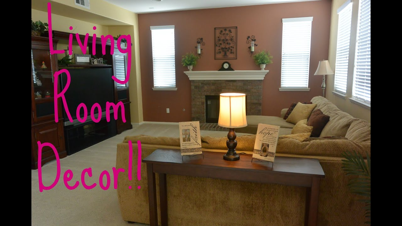Simple Living Room Decor!!! - YouTube