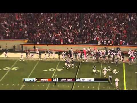 Fans in Lane Stadium Go Crazy to Enter Sandman - End of Game  Miami vs. Virginia Tech - YouTube.flv