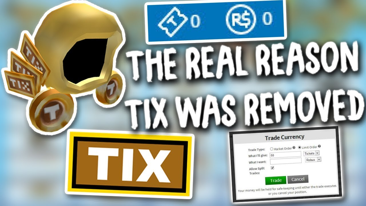 The Truth About Tix (Roblox) - YouTube