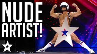 Naked Painter Shows It All Off!! | Croatia's Got Talent | Got Talent Global
