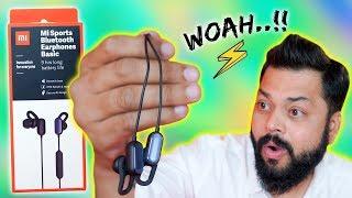 Mi Sports Bluetooth Earphones Basic Unboxing & Review ⚡ ९ घंटे की बैटरी...सिर्फ 1499
