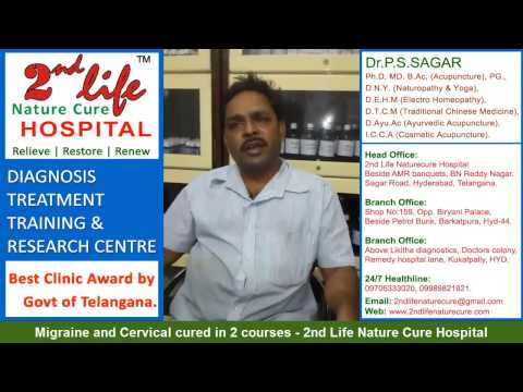 Migraine and Cervical cured in 2 courses - 2nd Life Nature Cure Hospital