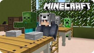 GECE 3:00'DA CANAVAR OKULUNA GİTTİM! - Minecraft