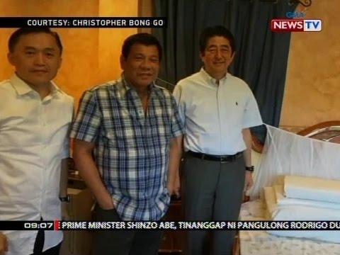 Japanese Prime Minister Shinzo Abe,   bumisita sa bahay ni Pres. Duterte sa Davao   City