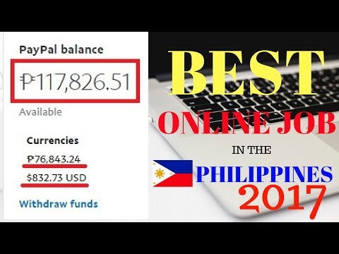 BEST ONLINE JOB IN THE PHILIPPINES 2017