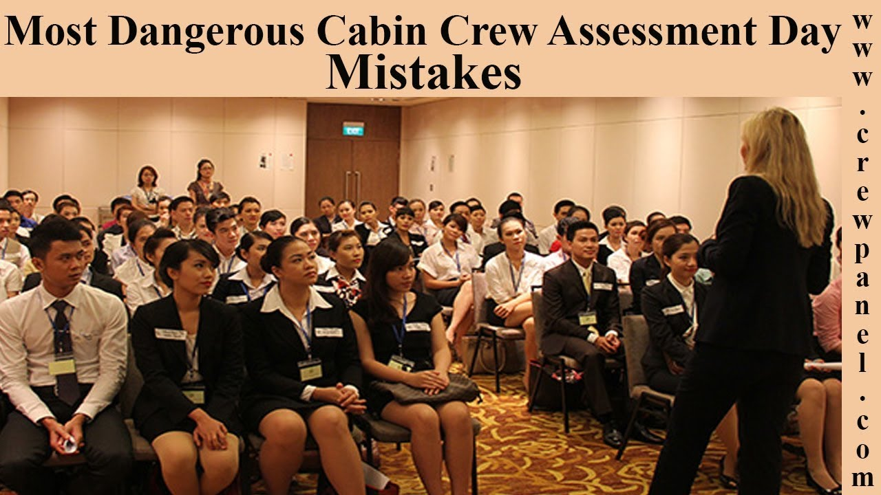 cabin crew assessment day mistakes