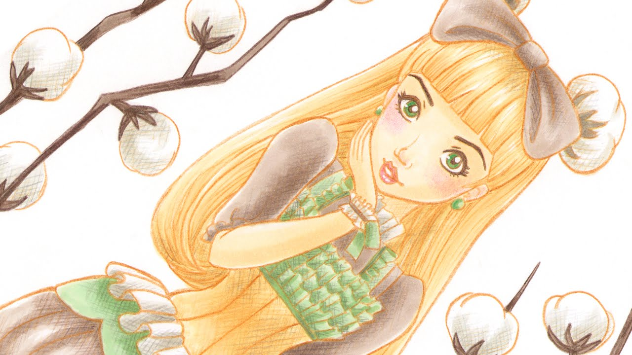 Line Art By Baylee Jae : Cotton marker and pencil illustration youtube