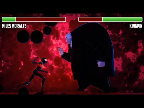 Miles Vs. Kingpin WITH HEALTHBARS | Final Battle | HD | Spider-man: Into The Spiderverse
