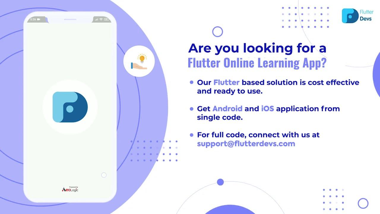 Flutter Online Learning App