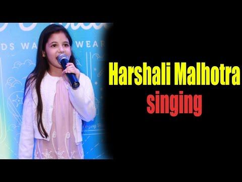Cute Harshali Malhotra's Sings Her Favorite Song!