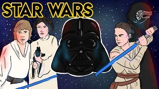 STAR WARS (Summary of ALL FILMS)  | Draw My Life