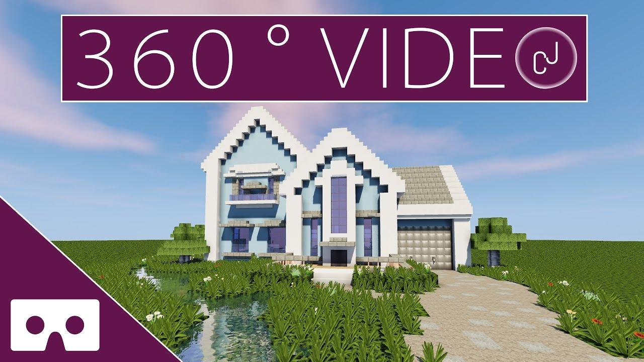 Building Grian U0026 39 S Minecraft - Suburban House 360 U00b0 Vr Timelapse