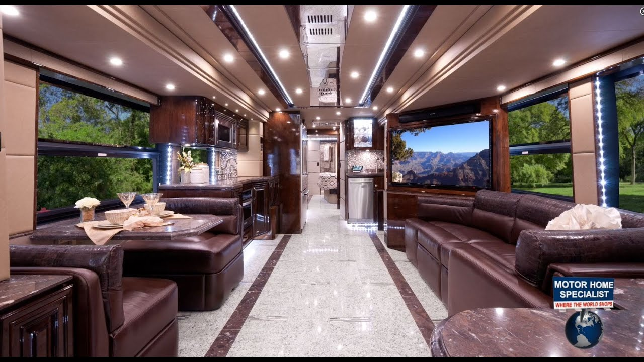 2 2 million outlaw luxury prevost rv at the for Million dollar motor coaches