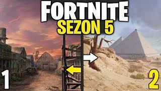 SEZON 5 - TAK BĘDZIE WYGLĄDAĆ + NOWE LOKALIZACJE I PRZEDMIOTY | Fortnite Battle Royale