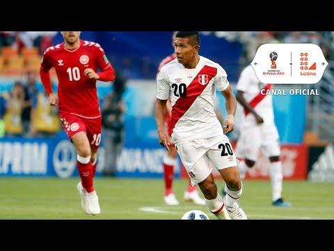 Cueva y Flores casi convierten el ansiado gol | Perú vs Dinamarca