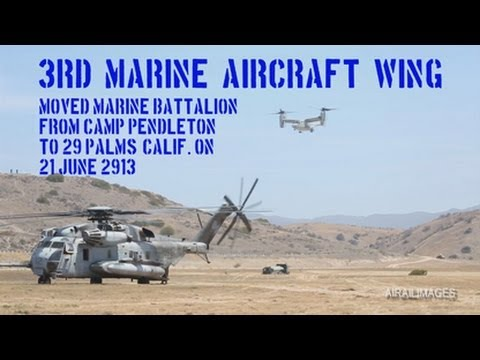 Marine Airlift by Ospreys and Super Stallions