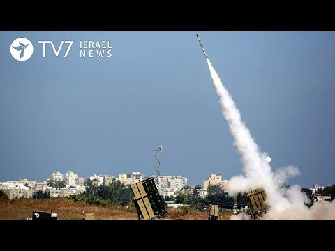 Israel's Iron Dome Defense system launches some 10 anti-rocket missiles - TV7 Israel News 26.03.18