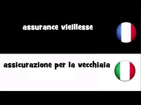 VOCABULAIRE EN 20 LANGUES = assurance vieillesse