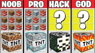 Minecraft Battle: SUPER TNT CRAFTING CHALLENGE - NOOB vs PRO vs HACKER vs GOD / Animation
