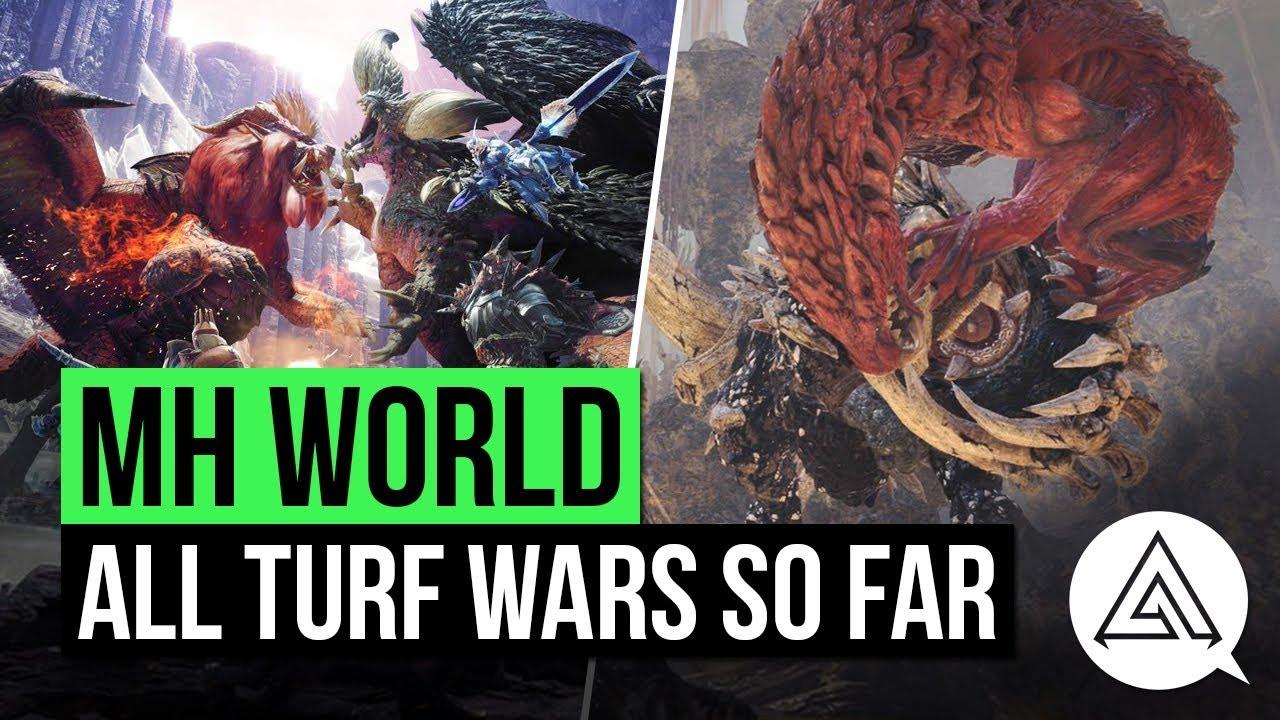 Monster Hunter World New Turf Wars All Turf Wars So Far Youtube
