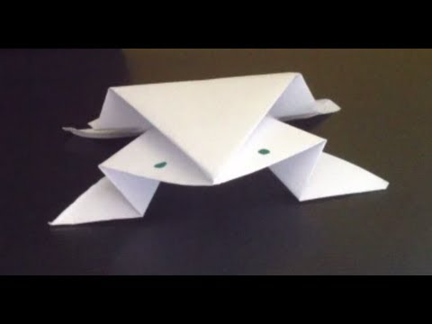 Faire une grenouille en papier animal en origami youtube - Faire grenouille en papier ...