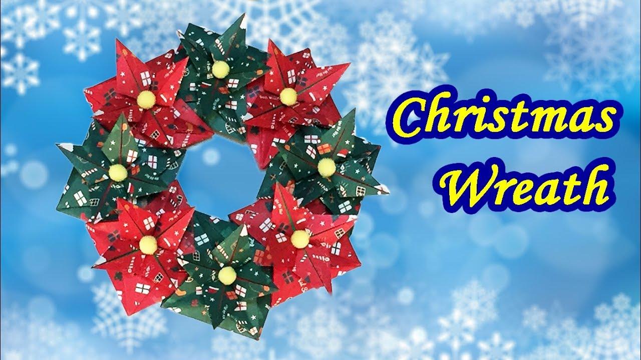Origami Christmas Wreath Diy Tutorial How To Make A