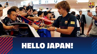 Barça arrive in Tokyo