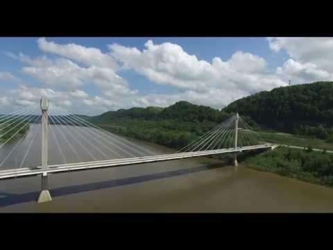 Portsmouth Ohio Aerial 4K