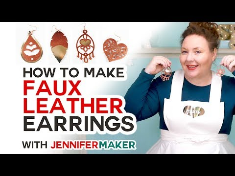 DIY Faux Leather Earrings Made on a Cricut!
