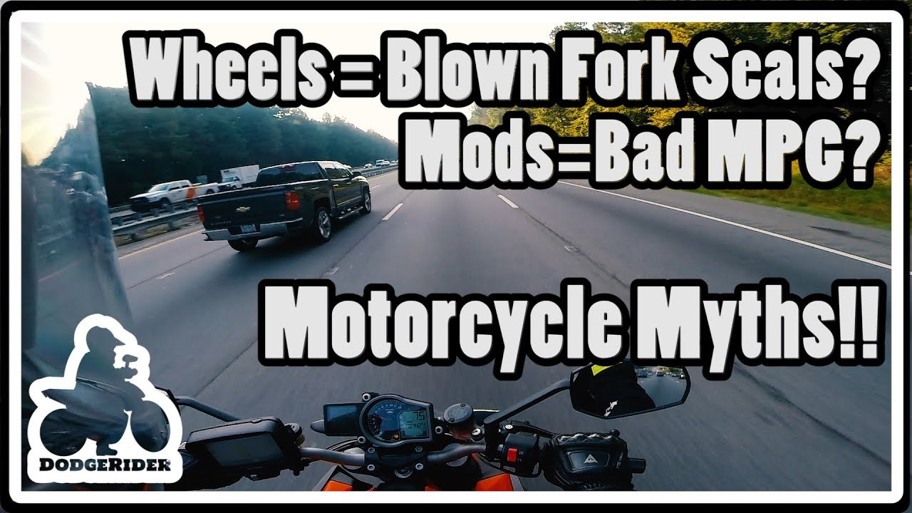 Motorcycle myths series part 11 mods ruin mpg wheelies blow fork seals