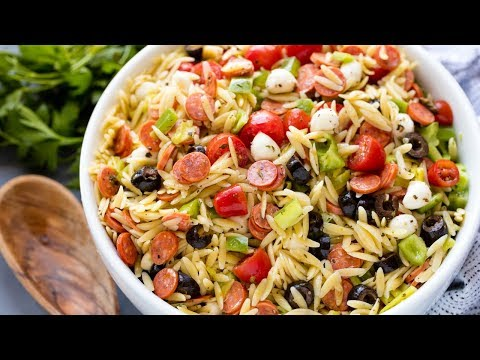 Mediterranean Orzo With Tuna, Parsley, Lemon Zest and Essential Olive Oil