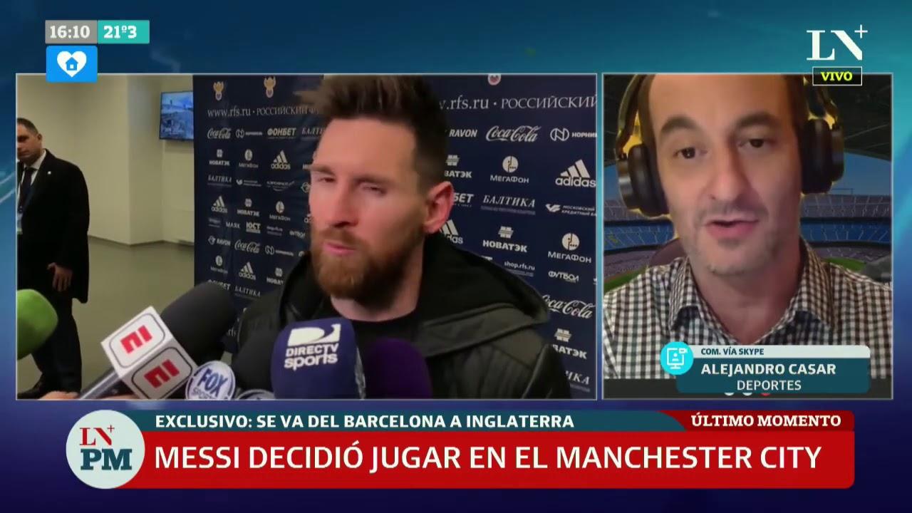 Lionel Messi da pasos para seguir su carrera en Manchester City