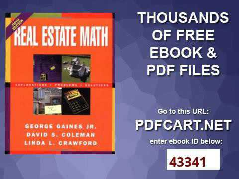 amazon com real estate math explanations problems and solutions rh amazon com real estate border paper real estate math formulas