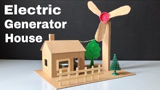 How to Make Mini Wind Turbine from Cardboard - Electric Generator