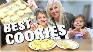 How to Make the Best Sugar Cookies - NO BROWN EDGES! - Cook with Me and KIDS