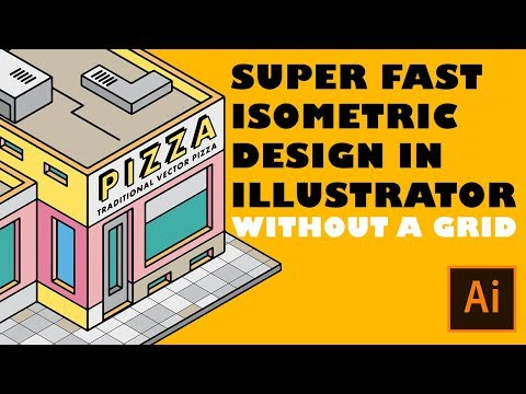 Super fast isometric design in Adobe Illustrator without using a grid!