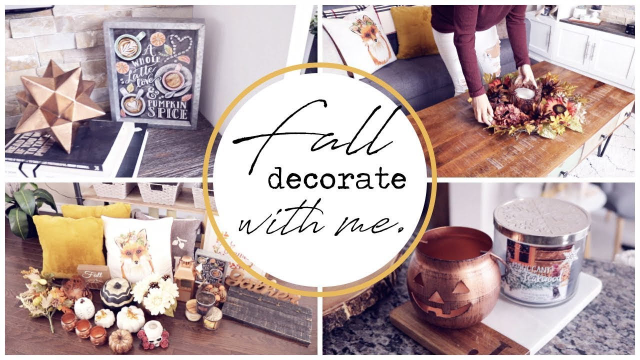FALL DECORATE WITH ME! || FALL 2018 HOME DECOR!