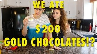WE ATE $200 CHOCOLATES!!! (can you eat that challenge)